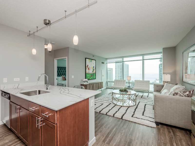 Atwater apartments in Streeterville offer the luxury of space