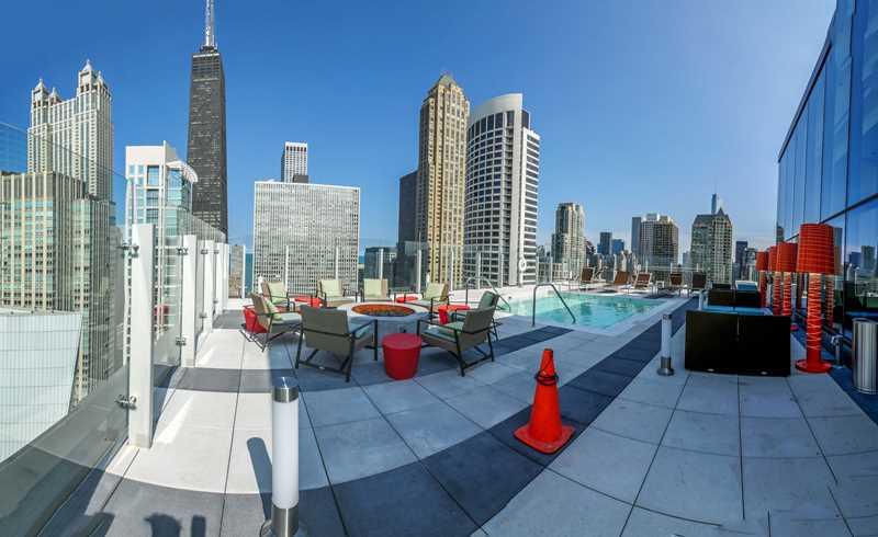 State & Chestnut pool deck, Chicago