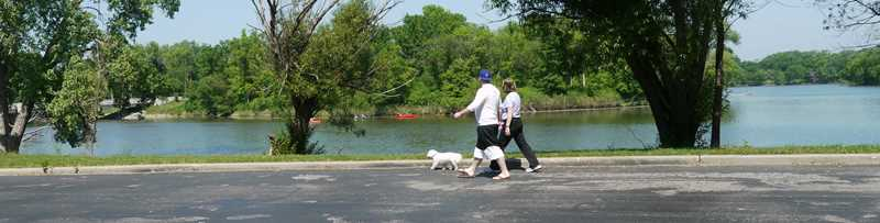 Skokie Lagoons dog walk, Winnetka, IL