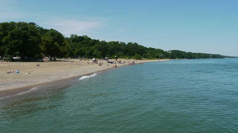 Tower Road beach, Winnetka, IL