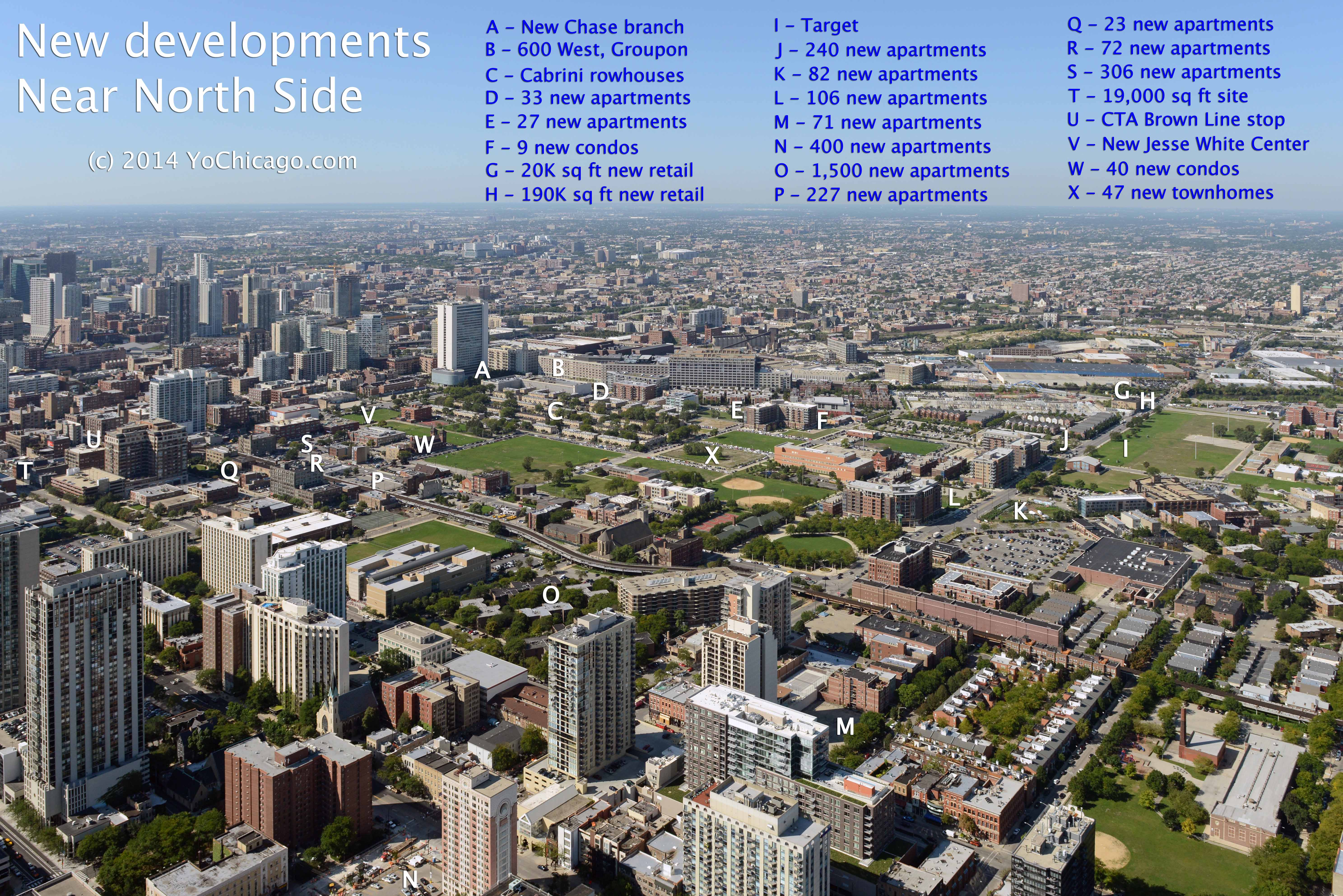 Chicago Near North Side Apartments An Aerial View Of New Near North Side Developments  Yochicago