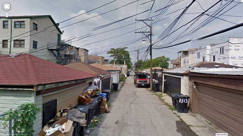 Prowling Chicago's alleys with Google