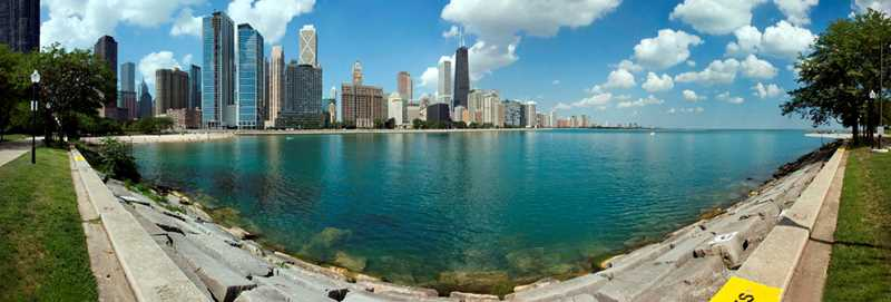 Chicago, Streeterville skyline, photo by Michael Kardas