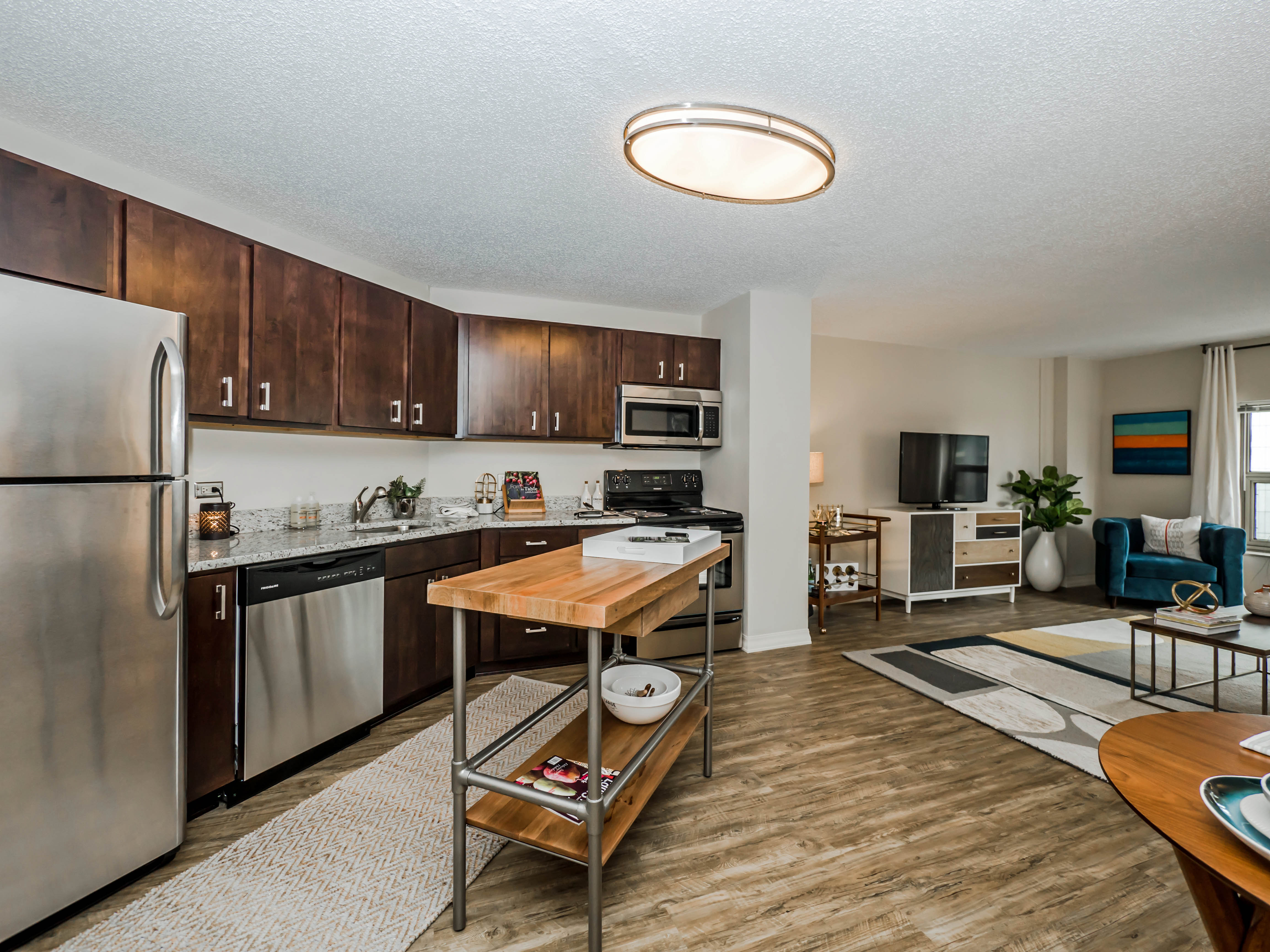 step out into a vibrant urban scene from chestnut place apartments