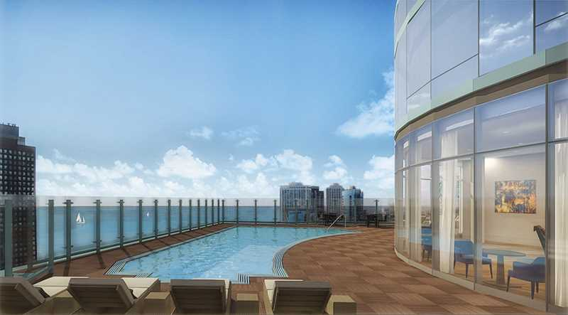 New apartment tower has Streeterville's only rooftop pool