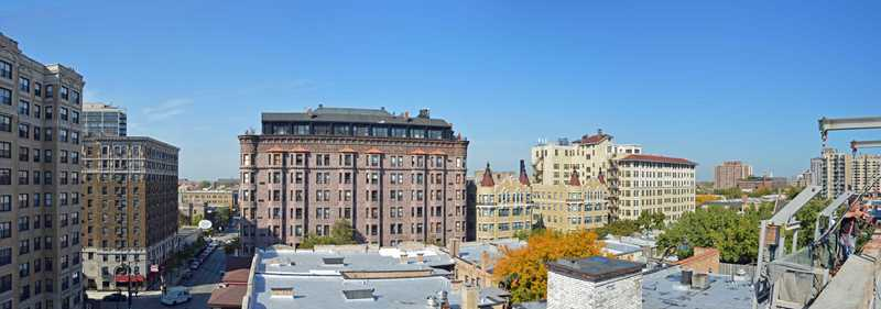 The vintage views from a Lincoln Park roof deck