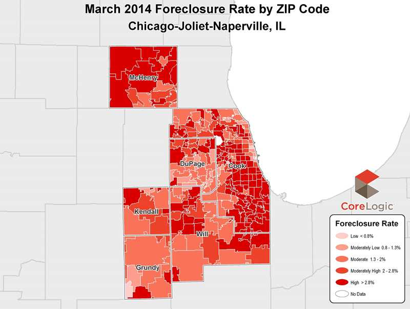 Chicago-area loan delinquency, foreclosure rates down sharply