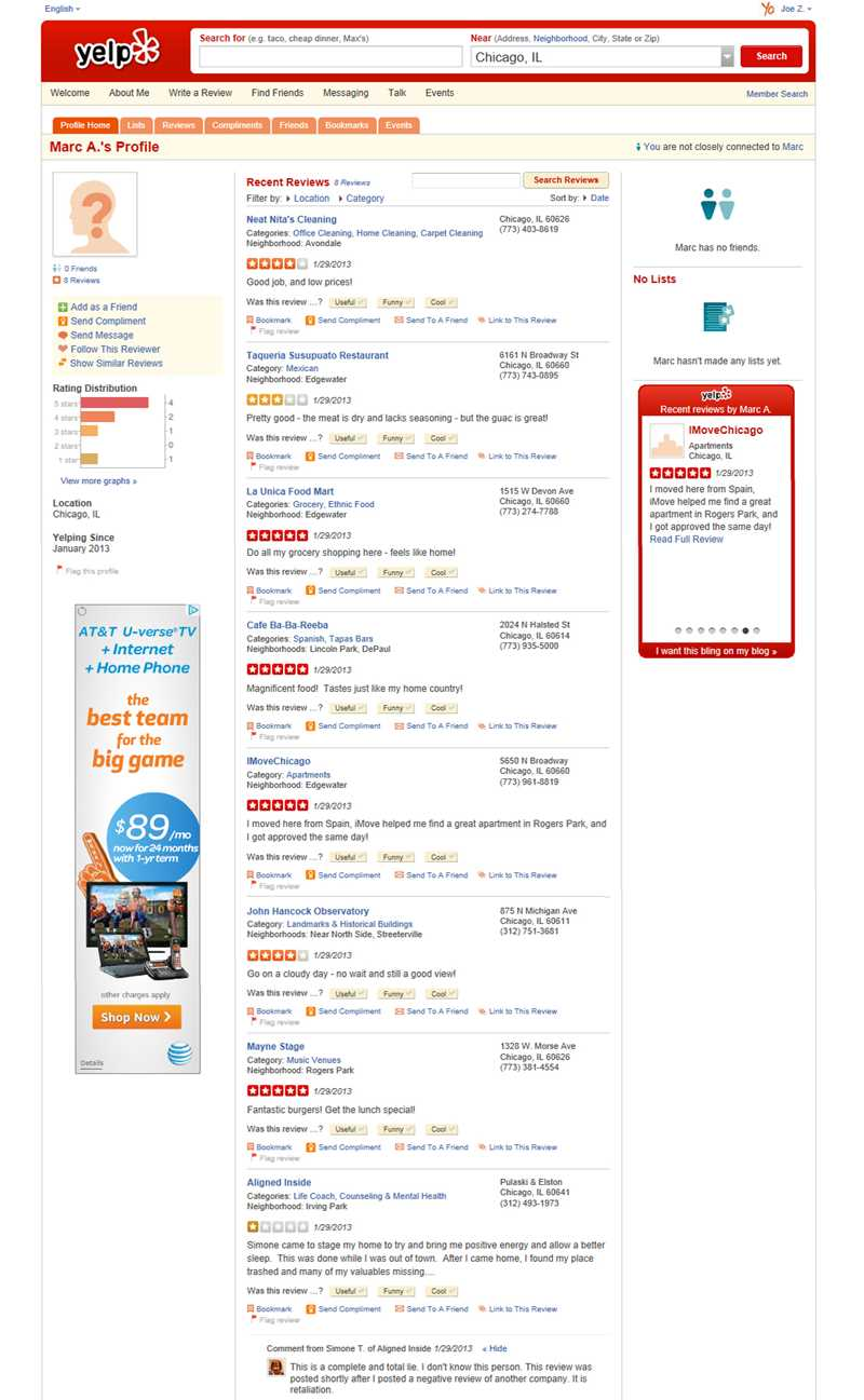 Did iMove Chicago viciously retaliate against a Yelp reviewer?