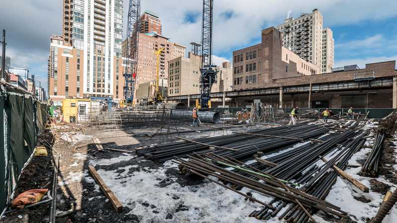 Foundation work underway on new South Loop apartments
