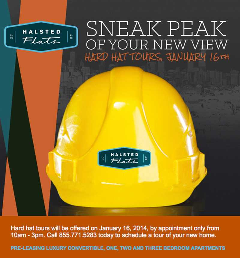 Sign up for a hardhat tour of Halsted Flats