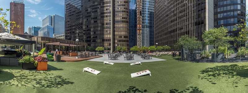 Updated fitness center and bargain rents at Streeterville's McClurg Court