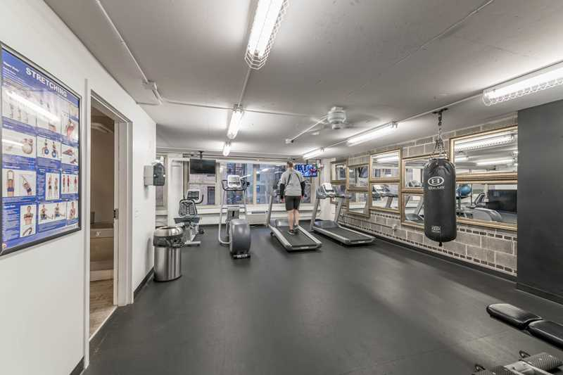 Fitness room, Gold Coast City Club, Chicago