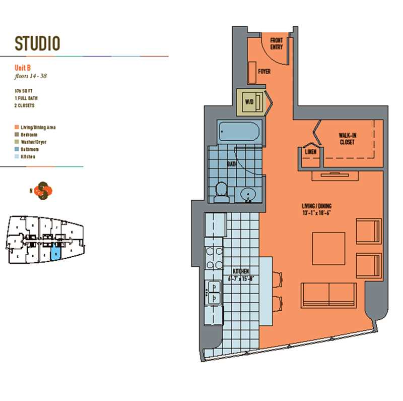 Value-priced Streeterville studios close to Northwestern, Lurie hospitals