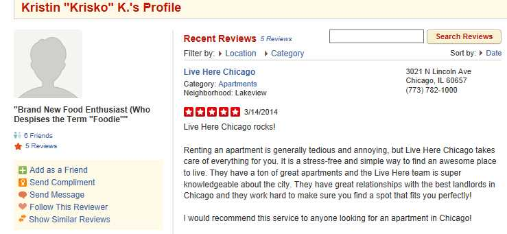 Do Live Here Chicago's fraudulent Yelp reviews doom its employees?