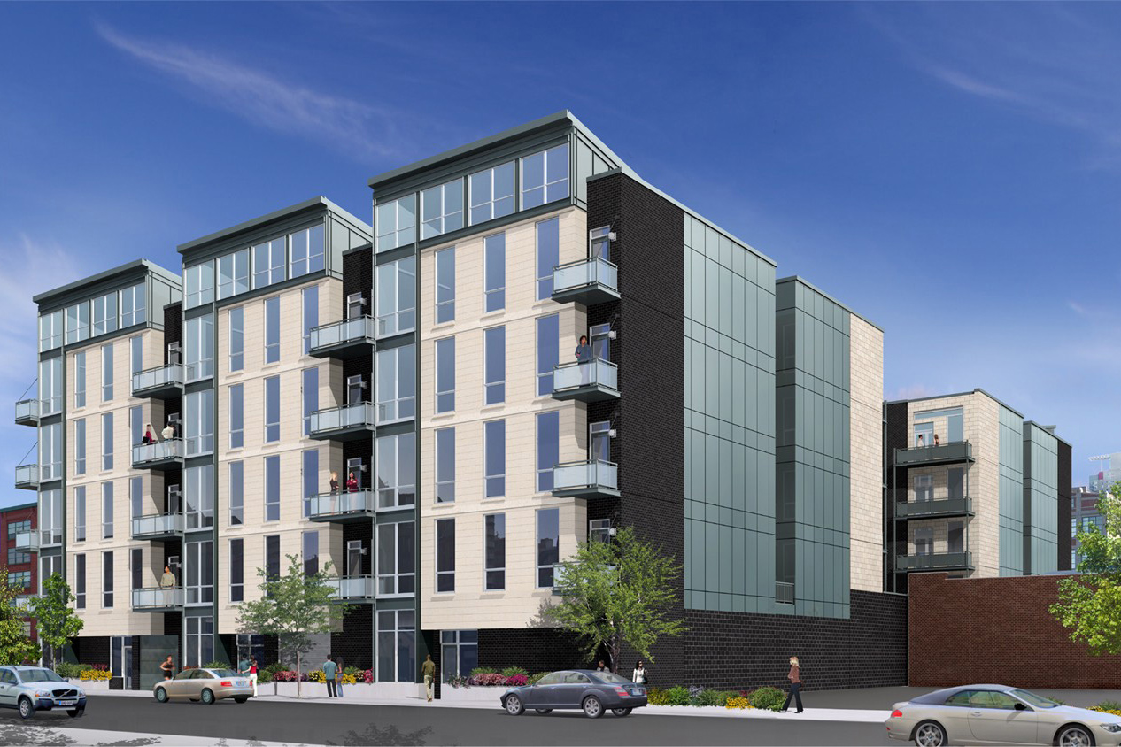 Rendering of CA23, Brixton Group's new 48-unit condo development at 23 N Aberdeen in West Loop, Chicago