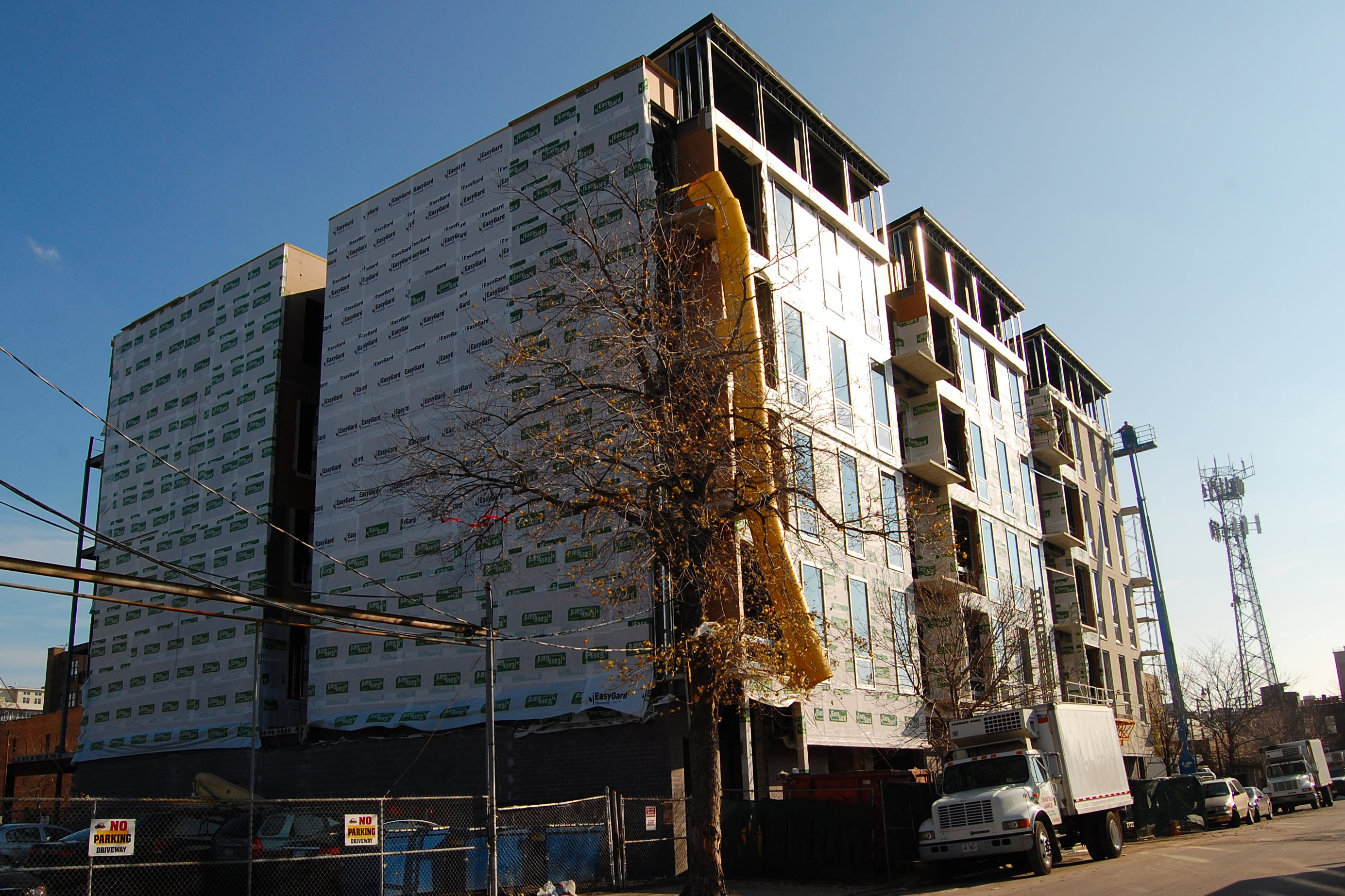 Photo of CA23, Brixton Group's new 48-unit condo development at 23 N Aberdeen in West Loop, Chicago