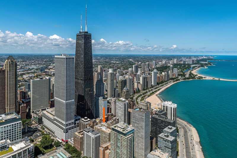 The Seneca, Chicago, at arrow