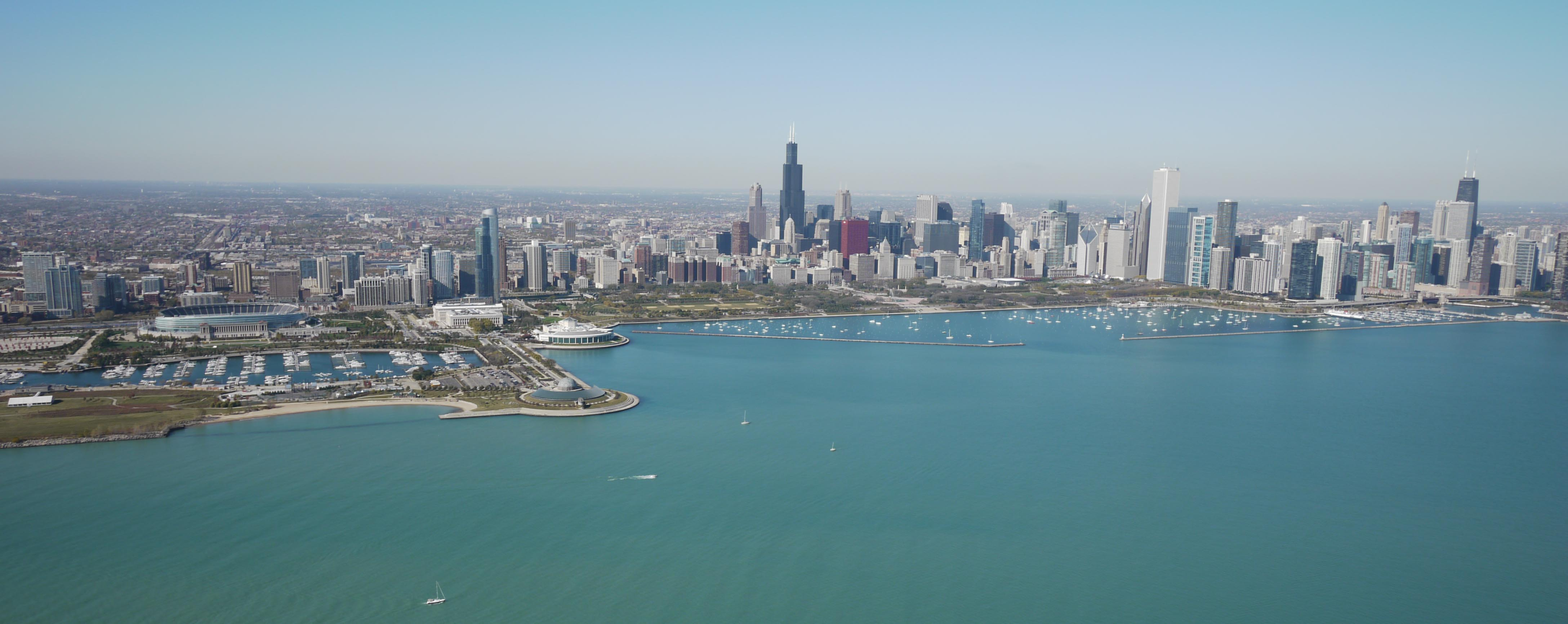 The View From Lake Michigan Yochicago