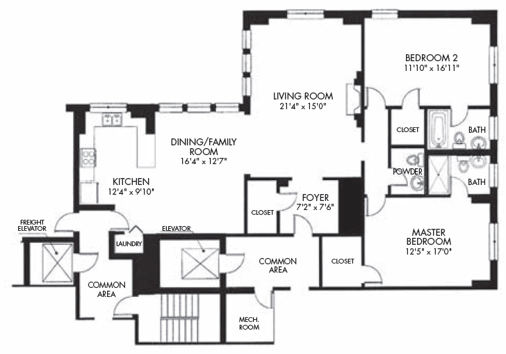 Floor plans in focus: A 1,600 square-foot two-bedroom at 433 Briar ...