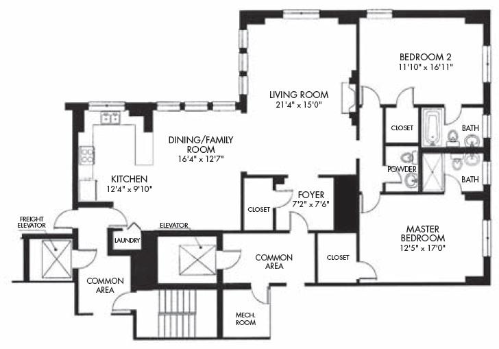 c tier floor plan at 433 briar 433 w briar pl chicago