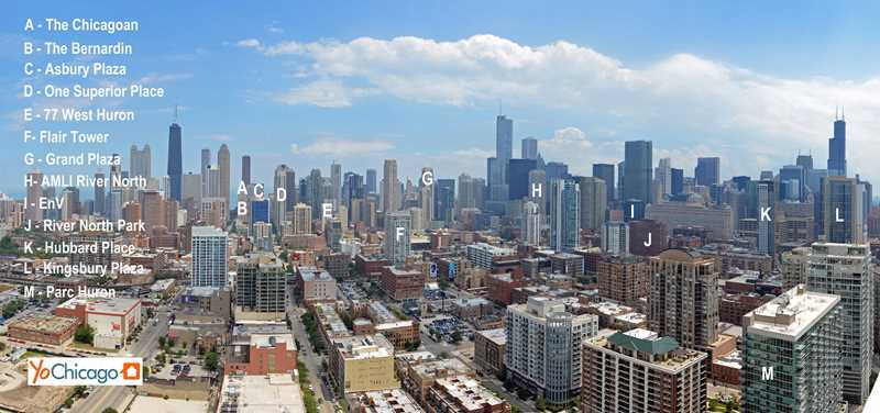 River North's best apartments – two-bedroom floor plan