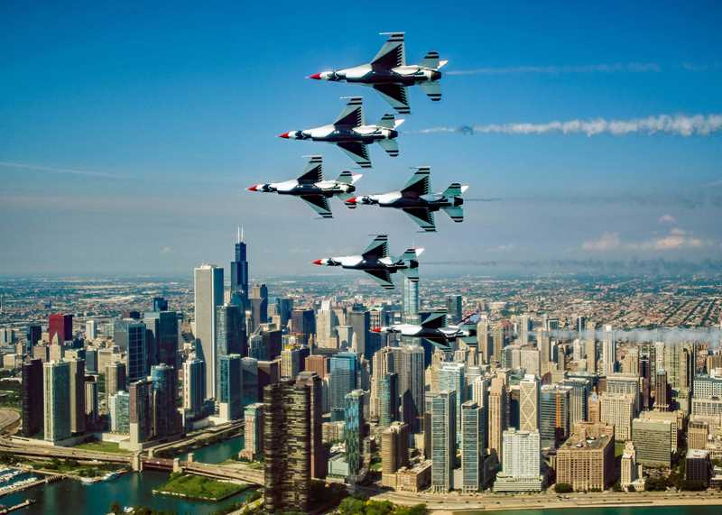 North Water apartments have great Air & Water Show views