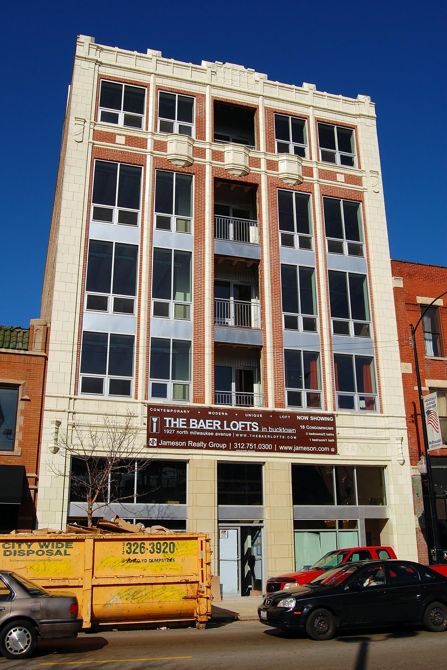 Baer Lofts, 1927 N Milwaukee Ave, Chicago