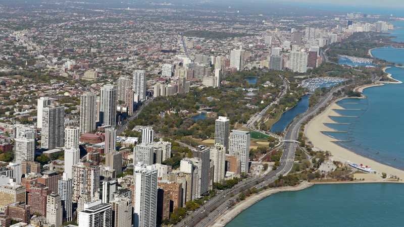 Aerial view of Lincoln Park