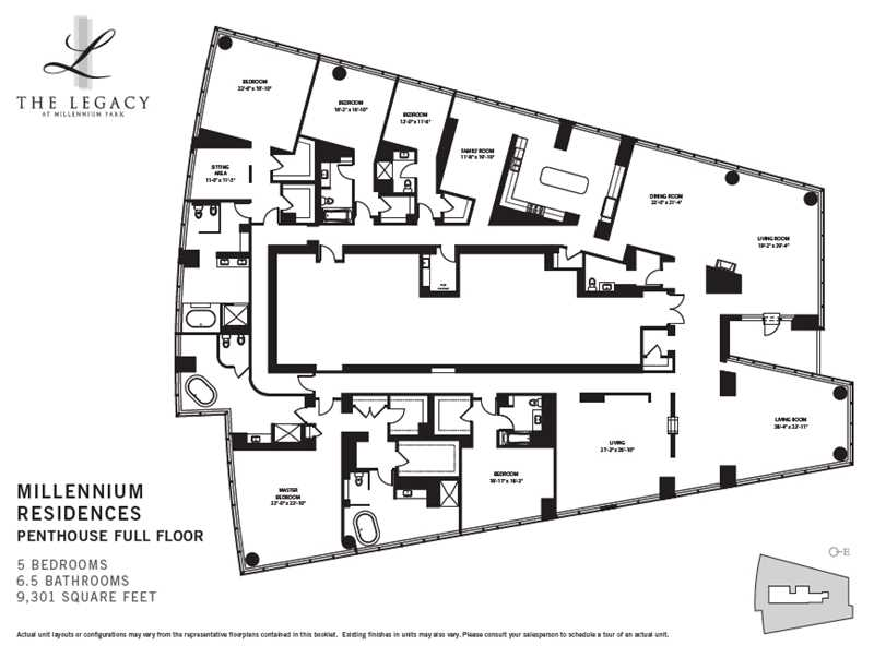 Chicago, Legacy at Millennium Park, penthouse floor plan