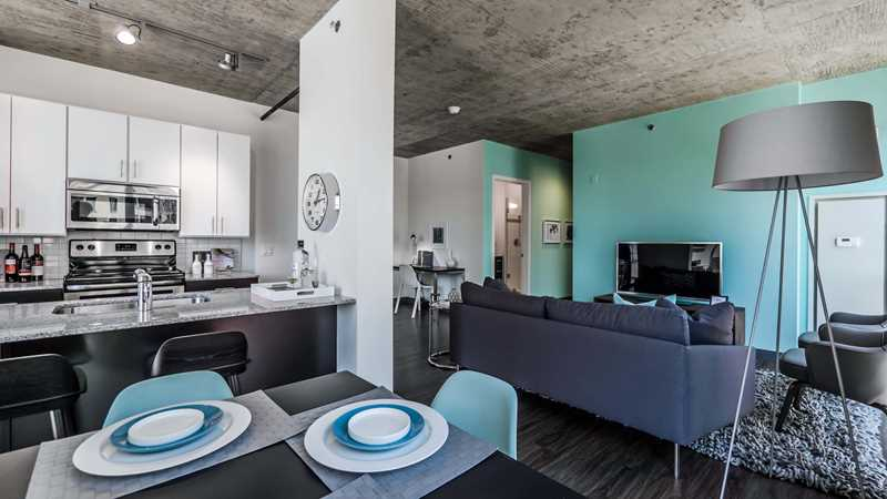 Rent a loft-style West Loop 2-bedroom with a great layout