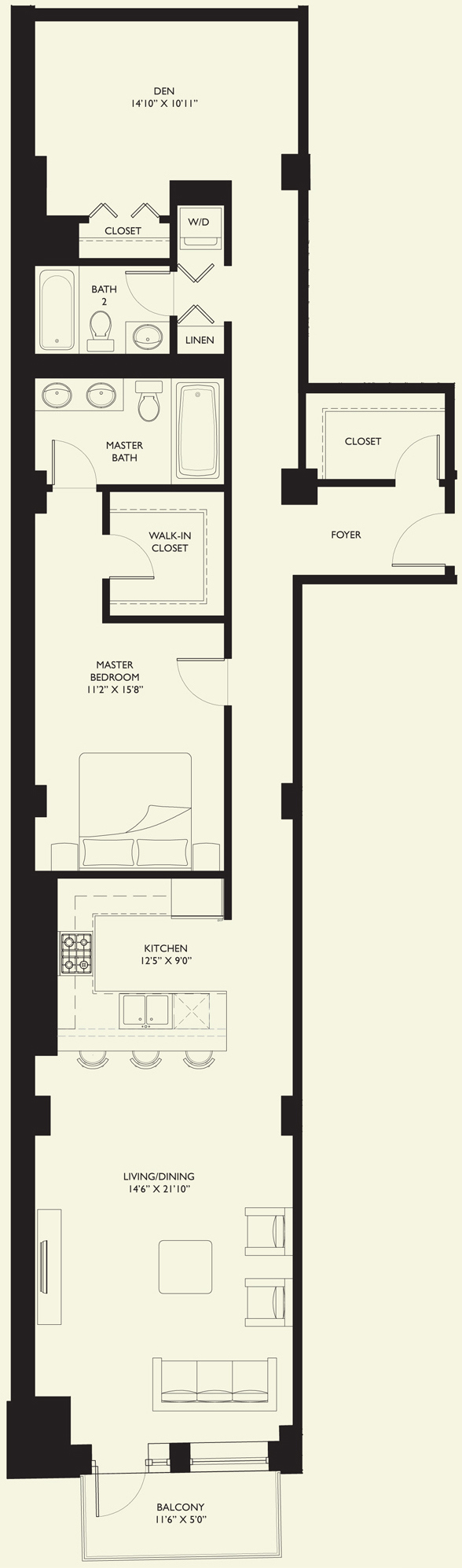 One-bedroom at Six North Michigan, 6 N Michigan Ave, Chicago