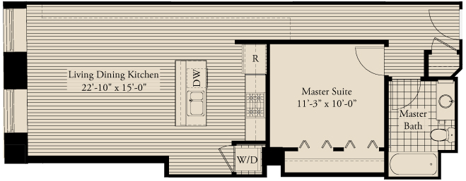 One-bedroom at Metropolitan Tower, 310 S Michigan Ave, Chicago