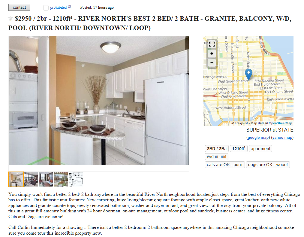 Chicagoland Property Group makes Craigslist spam a family