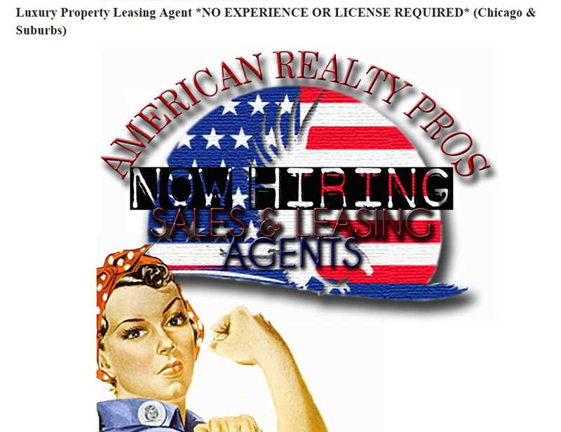 Leasing agents wanted – no experience or license required