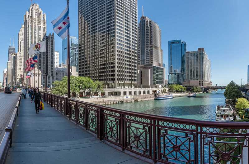 North Water apartments, view from Michigan Ave, Chicago