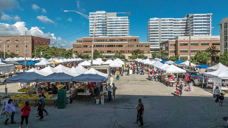 Head for the Evanston Farmers Market and your next apartment home