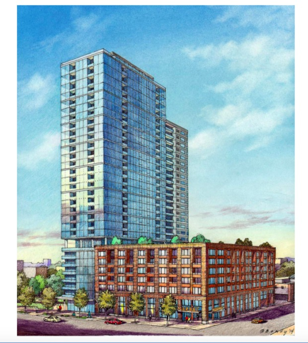New Townhome Construction Chicago Suburbs: Atrium Village, 1140 N Wells St, Old Town