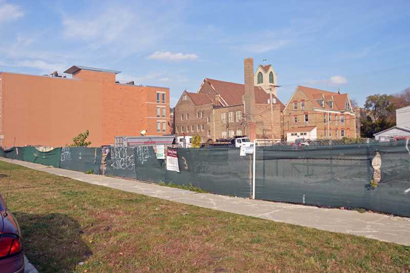 The 2700 block of Lakewood is nearing completion