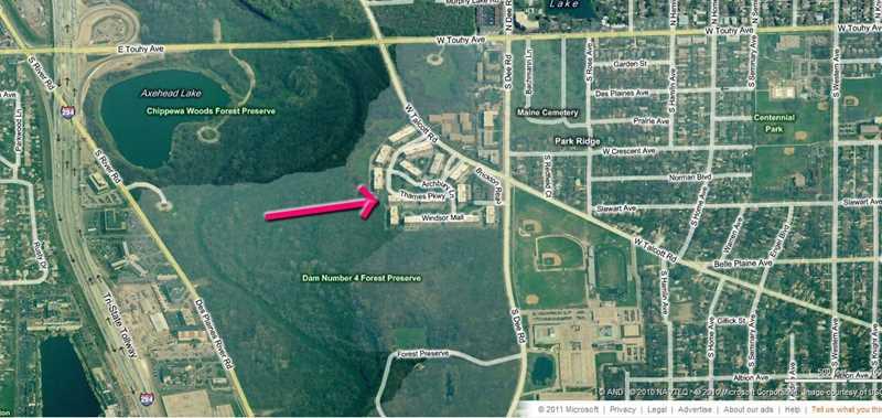 Bristol Court, Park Ridge, IL. Microsoft Bing Aerial