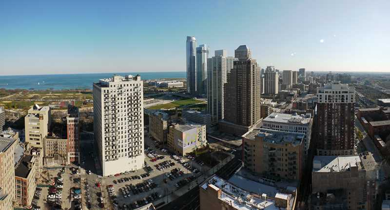 The views from Golub's proposed South Loop apartments