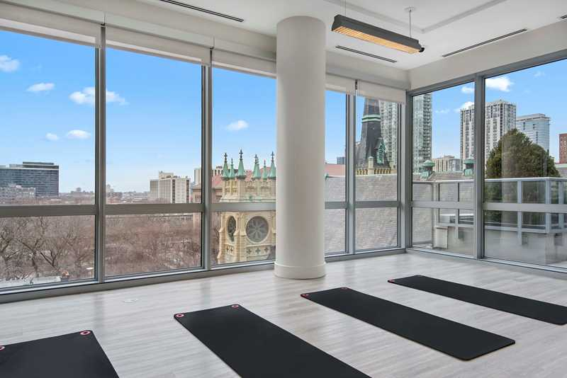 Fitness center, 2 W Delaware, Chicago. Jim Tschetter photo