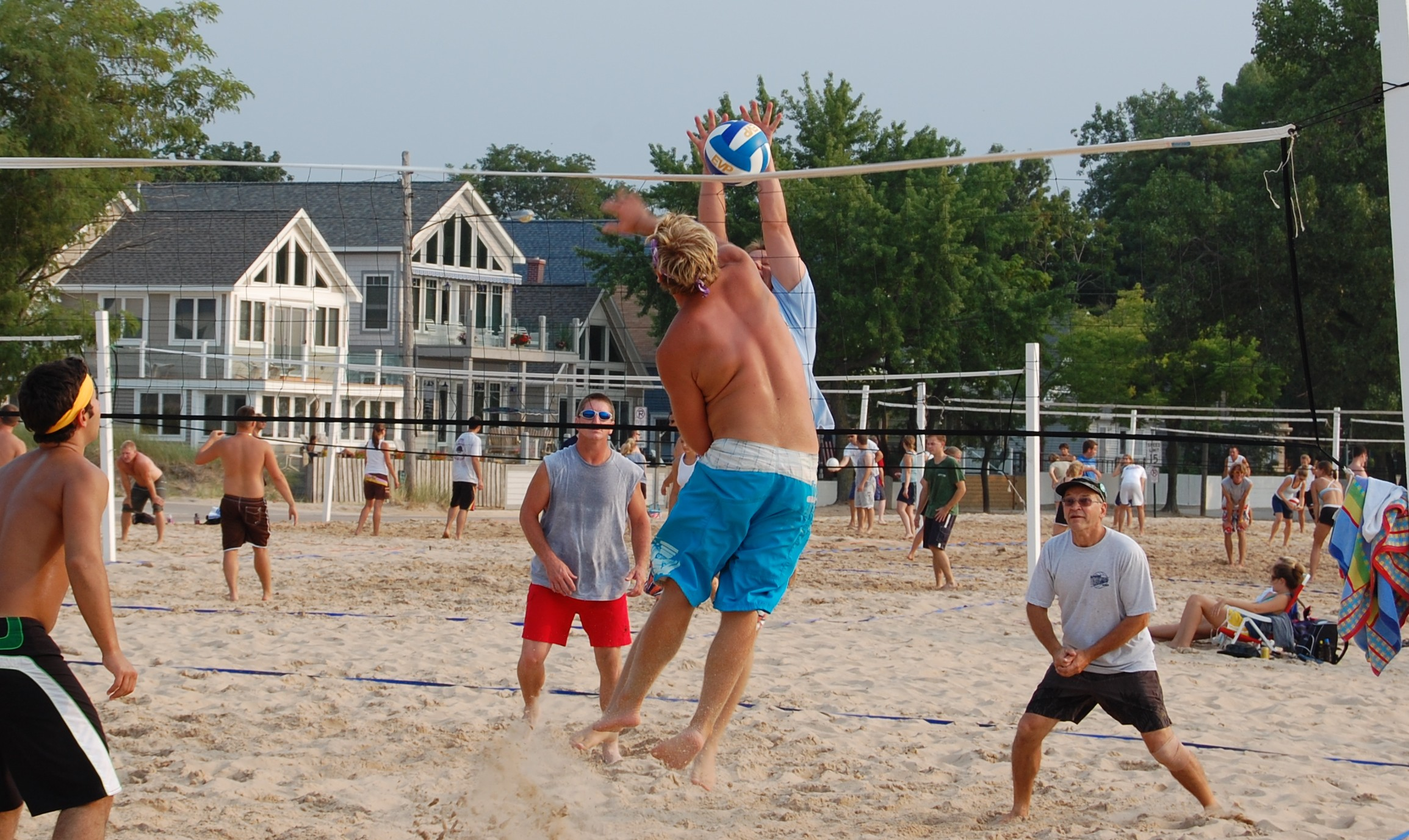 Volleyball on Silver Beach