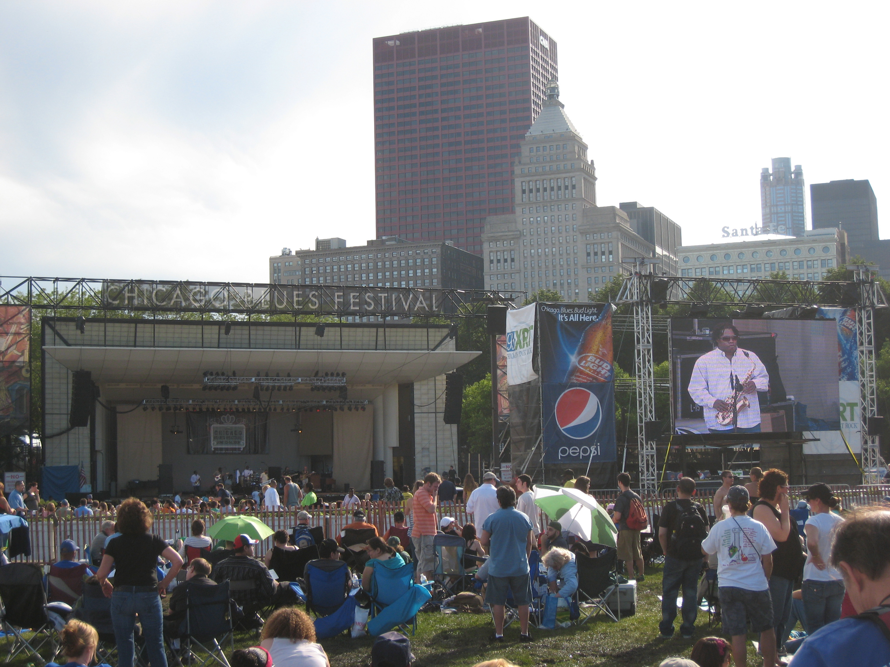 Blue skies at the Chicago Blues Festival