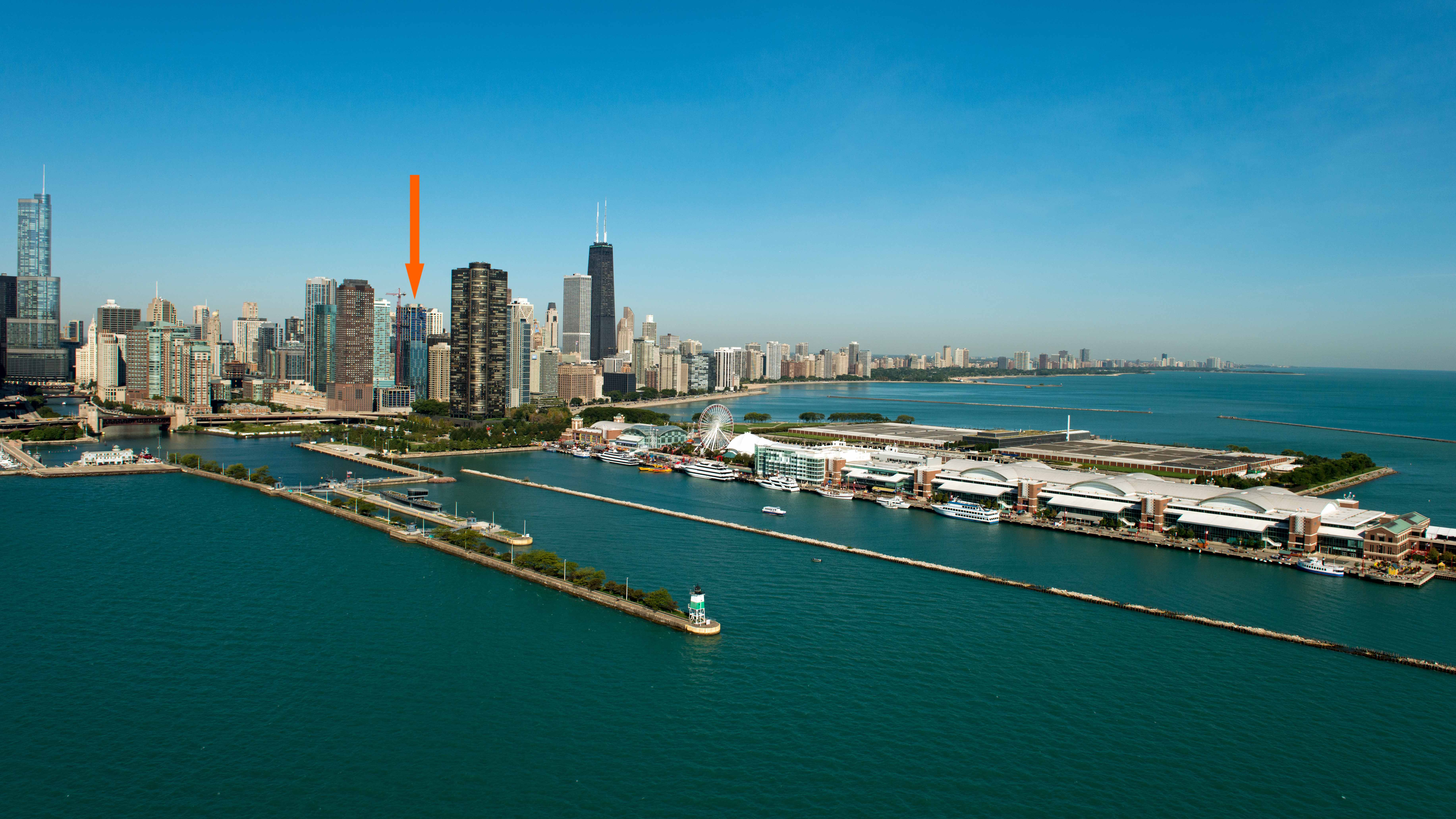 lakeside chicagos lakeshore drive - HD 7333×4125