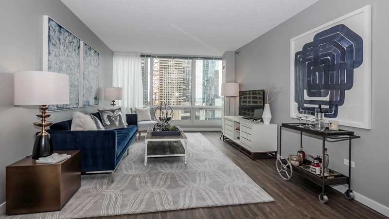 Spacious Streeterville one-bedrooms a block from Whole Foods