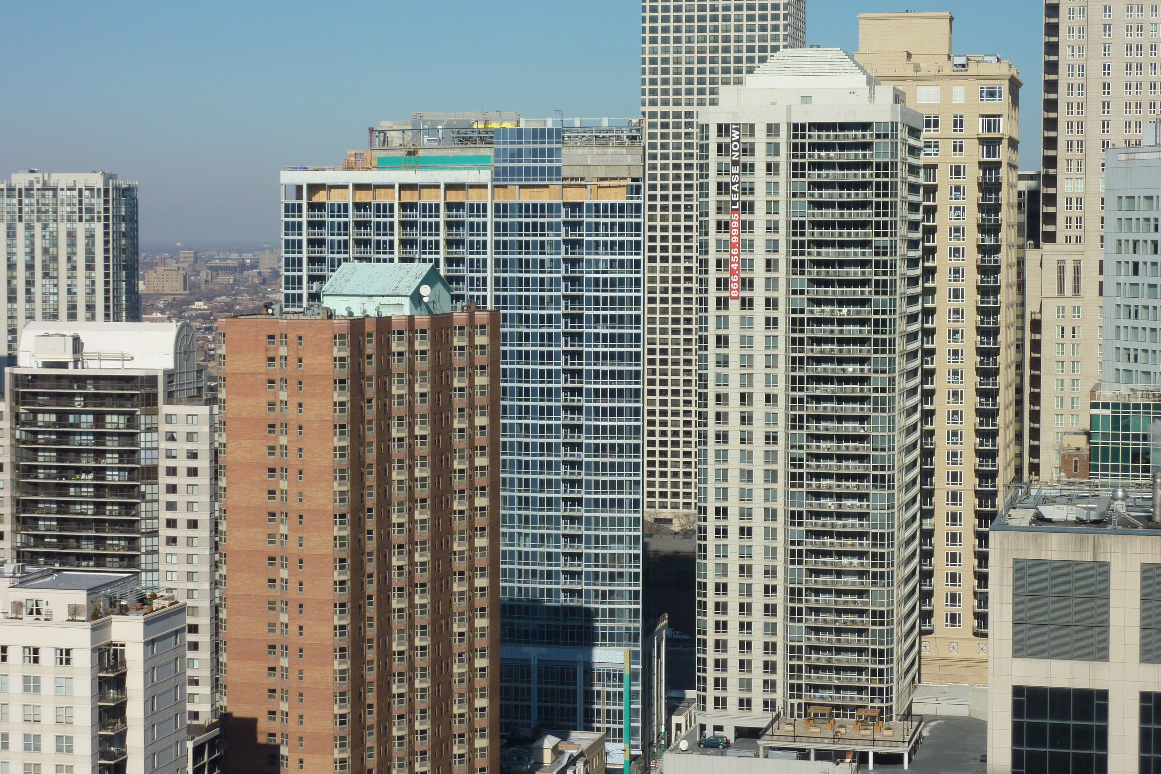 Construction checkup: Three new high-rises, from the Fordham's 37th floor
