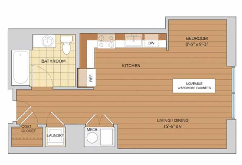 A scarce studio for rent at Circa 922