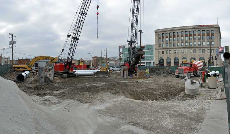 """Work underway on East Village """"tower of Pizza Hut"""""""
