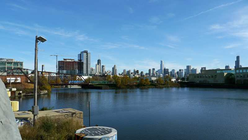 Is this Chicago's best unexpected skyline view?