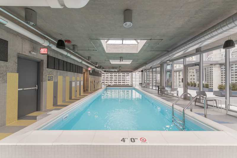 Four levels of amenities at the Loop's bold new Linea apartments